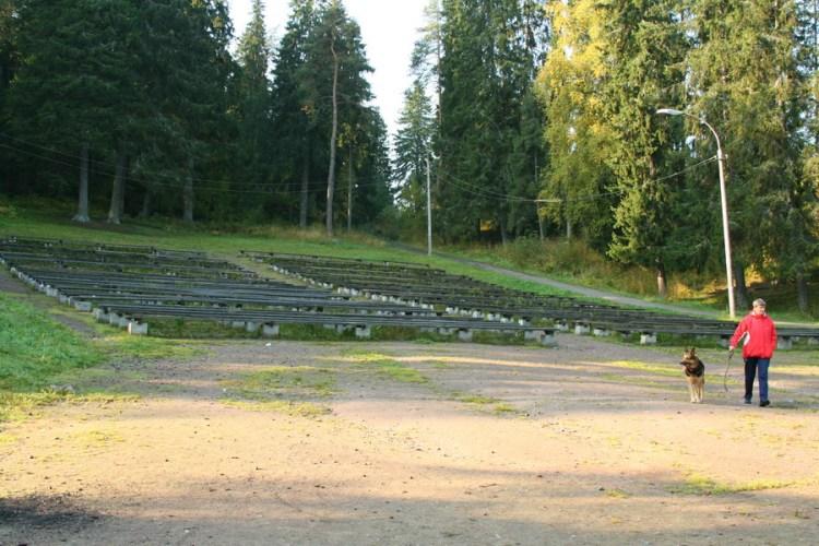 Сиротливые скамейки, заросшие травой