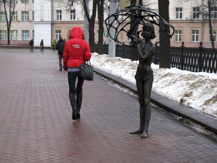 Пример современной скульптуры в Минске