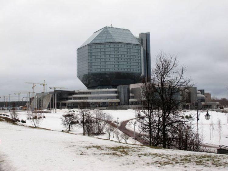 Новое здание национальной бибилиотеки Белоруссии
