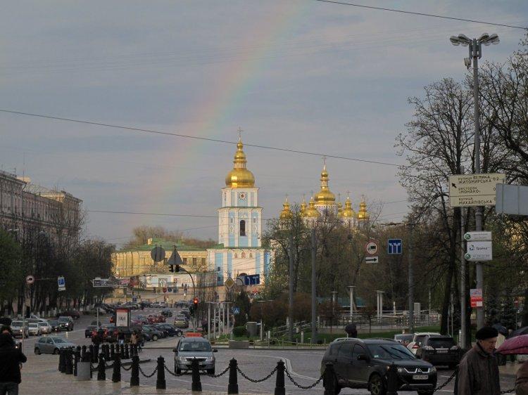 Радуга над Михайловским собором