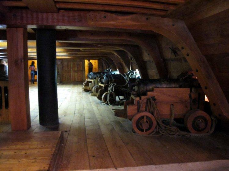 Восстановленные интерьеры корабля