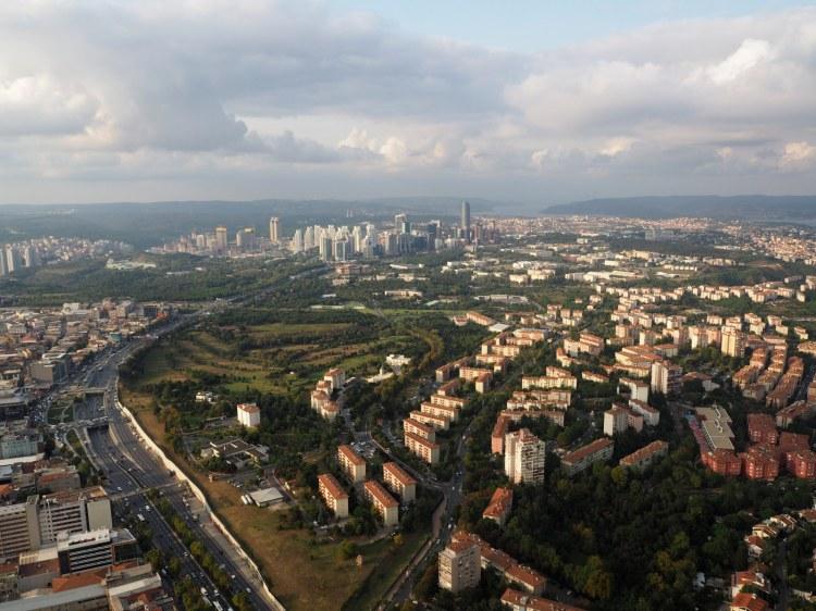 Вид на Стамбул и Чёрное море